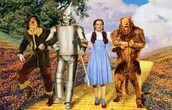 Scarecrow, Tin Man, Dorothy, and Cowardly Lion