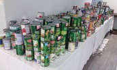 We have collected over 800 cans!