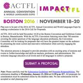 ACTFL 2016 Call for Proposals!