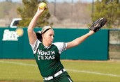 North Texas pitcher Ashley Kirk is pictured during action last season.