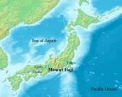 Mt.Fuji on a map!