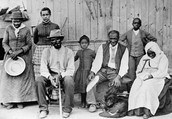 Harriet with some people she brought to freedom.