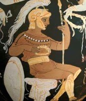 An ancient Greek painting of Ares