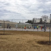 Playing basketball during recess.  Thanks for the hoops, PTO!