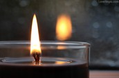 Giving more light than heat (Extinguished flame)