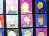 Fourth Grade Medieval Self-Portraits