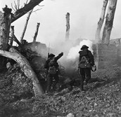 November 1918- Americans opened a hole in the Eastern flank of the German lines.