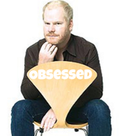 Jim Gaffigan and Holey Chair in Action