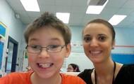 My teacher and me.