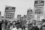 African Americans demanded the right to vote.