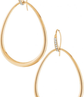 Goddess Teardrop Earrings Gold