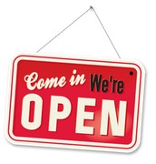 Come On in We're Open!