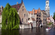 One of the many canals of Bruge.