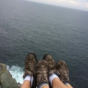 Hiking in Monhegan