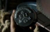 "Logo of the East India Trading Company. You can see the brand in the movie series ""Pirates of the Caribbean""."