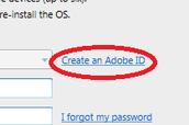 "Click ""Create an Adobe ID."""