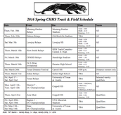 CHHS Track and Field