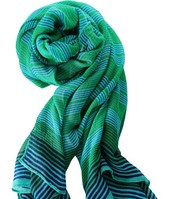 Palm Springs Scarf - Turquoise Stripe $20