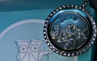 "Silver Locket with ""Swarovski"" crystals"