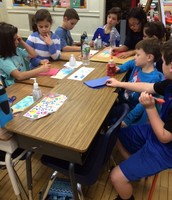 Card Making with our 2nd Grade Buddies