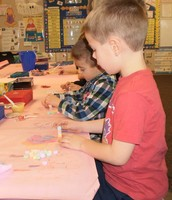 Mrs. Casper's KDG class had a blast playing games and making crafts at their Valentine party!