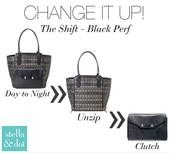 The Shift Tote Black Perf REg $198 -50% sale $99