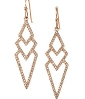The pave spear earrings