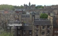 The view from our hostel in Edinburgh