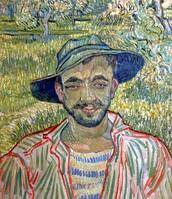 Ritratto di giovane contadino, Van Gogh, 1889