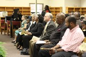 School Board members and Macon-Bibb Commissioner Virgil Watkins help dedicate Southfield Elementary School