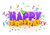Staff Birthdays