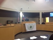 Inside the Court room! Very cool!