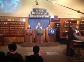 Me at a game show at the Pavick museum!
