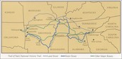 This is a map of the trail of tears