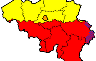 A map of the different regions of Belgium