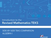 TEA Side-by-Side Documents for HS Mathematics