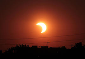 Solar eclipse from the earth