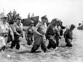 General Douglas MacArthur And Staff Land At Palo Beach