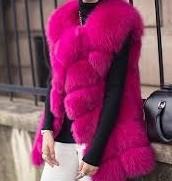 Pink Fur Vest.