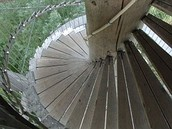 This is a spiral stair case.  It is also an inclined plane.