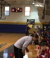 Coach Callow cheering the boys on!
