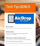 AirDrop for Staff