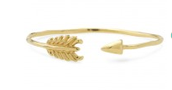 Gilded Arrow Bangle in Gold