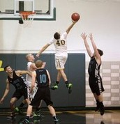 Getting dunked on!