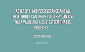 What can we learn from the perseverance of others in order to overcome adversity in today's world?