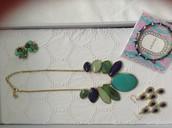 Serenity necklace,Sechelles earrings, Naomi cluster earrings,Julep bangle