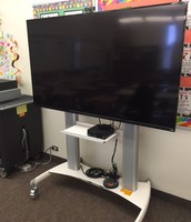 Large TV Cart w/ Computer & Apple TV