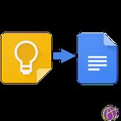 Google Keep: Send to Google Doc