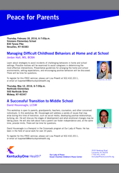 Peace for Parents Educational Seminars