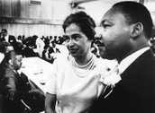 This is a picture of Rosa Parks and Martin Luther King Jr.